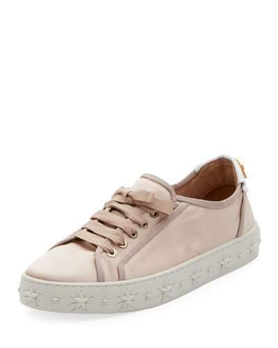 Aquazzura L.A. Satin Star-Platform Sneaker