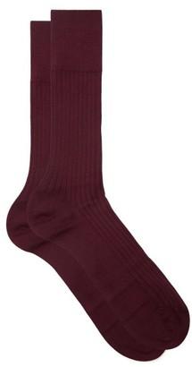 Falke No 13 Cotton-blend Socks - Burgundy