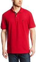 Nautica Men's Short Sleeve Solid Deck Polo Shirt, Red, Small