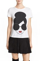 Alice + Olivia Women's 'Large Stace Face' Graphic Cotton Tee