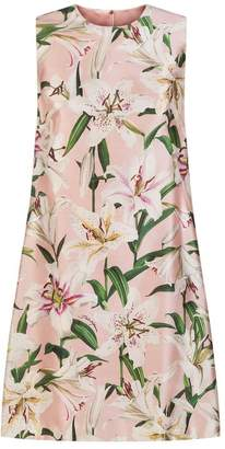 Dolce & Gabbana Sleeveless Dress With Lily Print