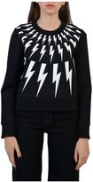 Neil Barrett Sweatshirt With Lightning Print