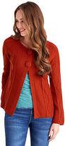 Joe Browns Women's Chunky Knit Cardigan with Pom Pom Buttons