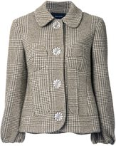 Simone Rocha houndstooth tweed jacket - women - Cotton/Polyamide/Wool - 8
