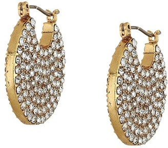 J.Crew Celest Pave Disc Earrings (Crystal) Earring