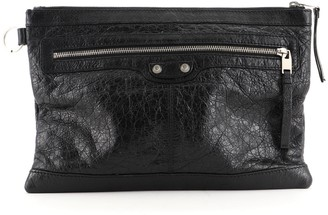 Balenciaga Classic City Clip Pouch Leather Medium