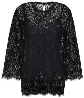 Dolce & Gabbana Scalloped Corded Lace Top