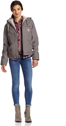 Carhartt Women's Sherpa Lined Sandstone Sierra Jacket Fleece
