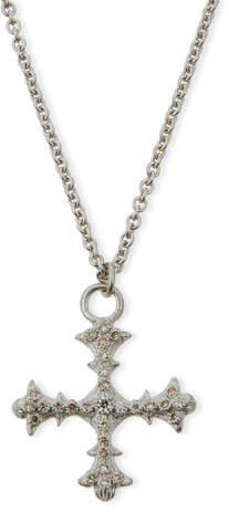 Armenta New World Diamond Cross Pendant Necklace