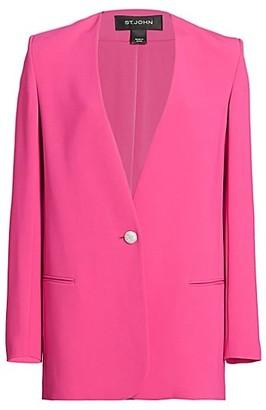 St. John Heavy Cady Collarless Jacket