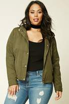 Forever 21 Plus Size Hooded Utility Jacket
