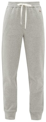 Moncler Logo-applique Cotton-blend Track Pants - Womens - Grey