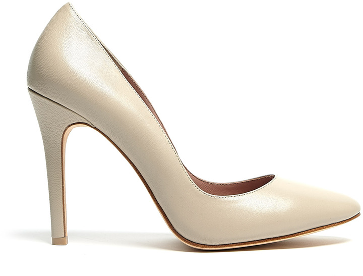 Raoul Sesame Leather Court Shoes