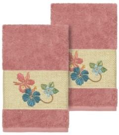 Linum Home Caroline 2-Pc. Embroidered Turkish Cotton Hand Towel Set Bedding