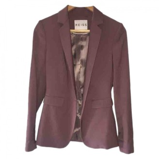 Reiss Pink Cotton Jacket for Women