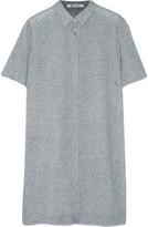 Alexander Wang Frayed stretch-silk georgette mini dress