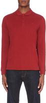 Armani Jeans Long-sleeved cotton-piqué polo shirt