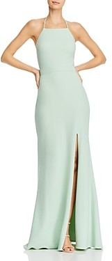 Aqua Embellished-Strap Gown - 100% Exclusive