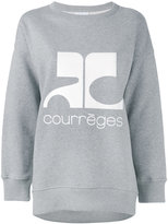 Courreges logo print sweatshirt - women - Cotton - 1