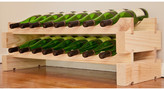 Wine Rack 16 2 Layers of 8 Bottle Width Finish: Natural Pine