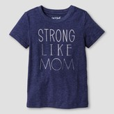 Cat & Jack Toddler Boys' Strong Like Mom Graphic T-Shirt Cat & Jack - Navy