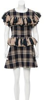 Au Jour Le Jour Wool Patterned Dress w/ Tags