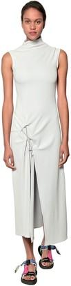 Off-White Dna Spiral Streed Nylon Dress