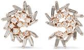 Suzanne Kalan 18-karat White And Rose Gold Diamond Earrings