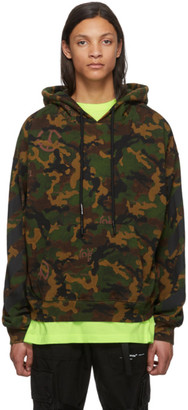 Off-White Green Camo All Over Hoodie