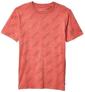 Lucky Brand Kids Just Lucky Tee (Big Kids) (Slate Rose) Boy's T Shirt