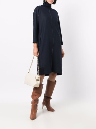 Antonelli Contrast-Stitching Knitted Dress