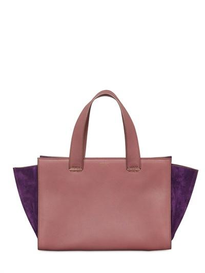 Giorgio Armani Mini Shopping Suede & Leather Tote
