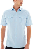 Claiborne Short-Sleeve Stretch Poplin Shirt