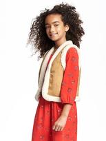 Old Navy Relaxed Sherpa-Lined Vest for Girls