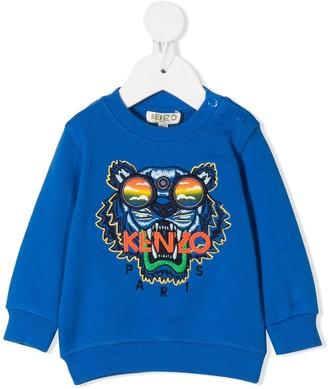 Kenzo Kids Embroidered Tiger Head Sweatshirt