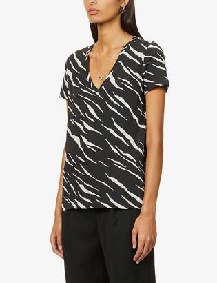Rails Cara tiger-print cotton T-shirt