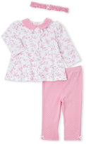 Little Me Newborn/Infant Girls) 3-Piece Floral Tunic & Polka Dot Leggings Set