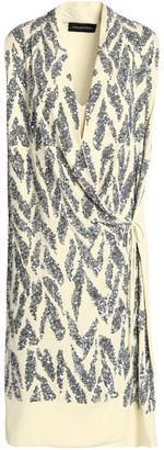 By Malene Birger Draped Sequined Crepe Wrap Dress