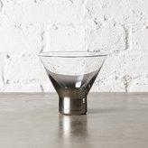 CB2 Metallic Martini Glass