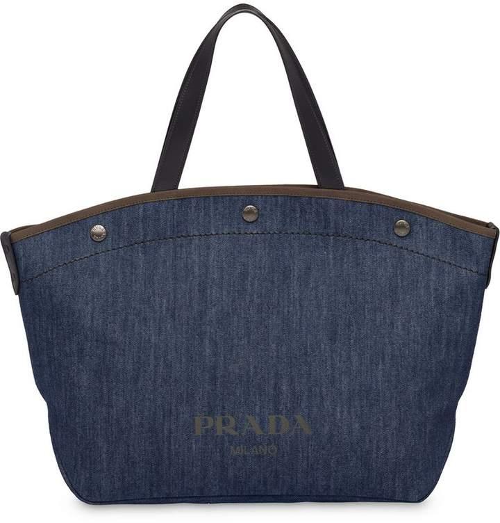 7da8f7abc97a Prada Denim Handbag - ShopStyle