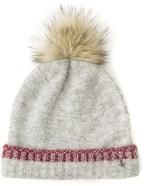 Tommy Hilfiger Fur Pom Knit Hat