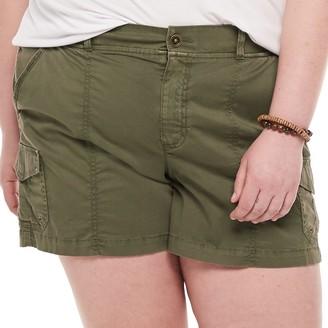Plus Size EVRI Utility Shorts