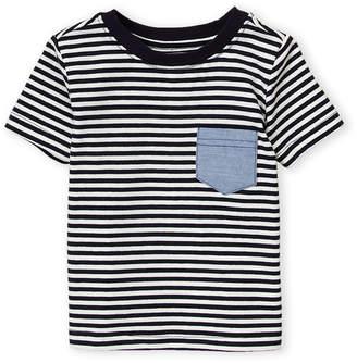 Andy & Evan Newborn/Infant Boys) Striped Pocket Tee