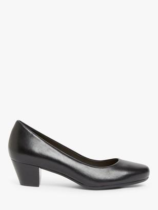 John Lewis & Partners April Low Block Heel Court Shoes