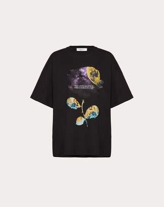 Valentino Undercover Print Cotton Jersey T-shirt Women Black Cotton 100% XS