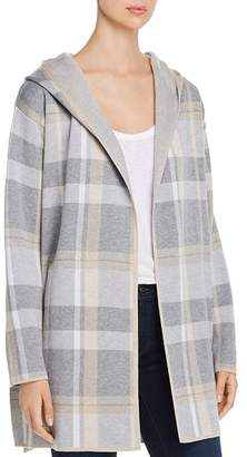 Calvin Klein Plaid Hooded Sweater Jacket