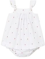 Jacadi Girls' Ice Cream Cone Dress & Bloomers Set - Baby