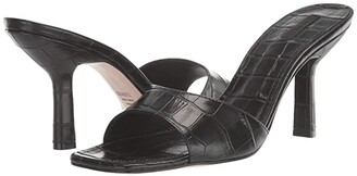 Schutz Posseni (Black New Crocodile) Women's Sandals