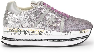 Premiata platform sole sneakers