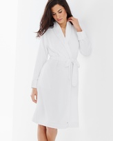 Soma Intimates Woven Waffle Long Robe White
